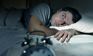 Sleep Disorders Link - Man awake